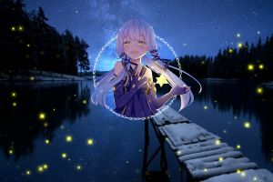 picture-in-picture stars anime neon anime girls