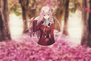 piture in picture anime girls darling the franxx picture-in-picture darling in the franxx zero two (darling in the franxx)