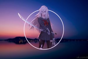 piture in picture sunset picture-in-picture anime girls nier: automata nier