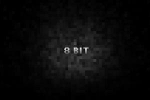 pixel art black background dark 8-bit