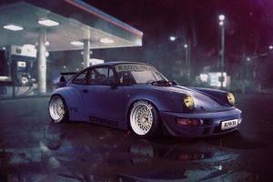 porsche 911 rwb blue cars porsche car vehicle rwb