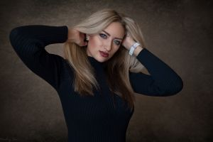 portrait dmitry sn women blonde blue eyes