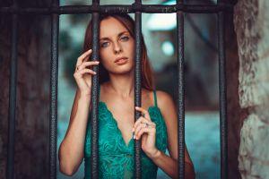 portrait painted nails face blue eyes women