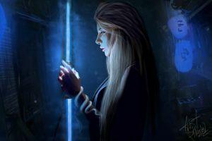 profile dark face women artwork