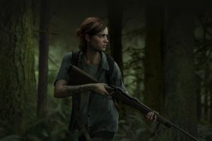 protagonist forest rifles apocalyptic ellie tattoo gun video games