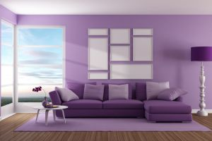 purple digital interior design interior 3d design