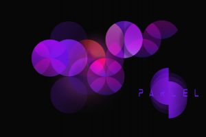 purple geometry black background circle