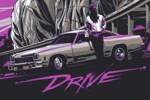 purple retrowave old car car retrowave