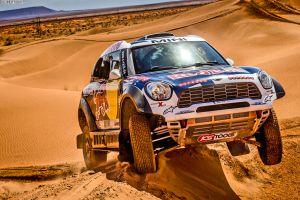 racing desert mini cooper rally car vehicle
