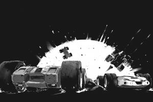 racing grey explosion car rollcage grip