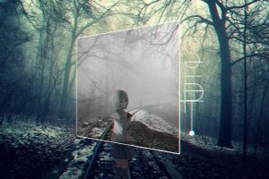 railway anime girls month forest