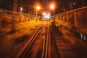 railway night lights