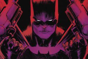 red batman purple artwork