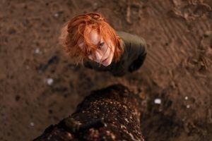 redhead face aleks five women looking up
