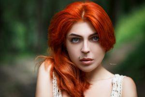 redhead piercing pierced lip maksim romanov women portrait