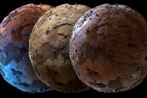 reliefs sphere planet