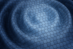render abstract blue shapes