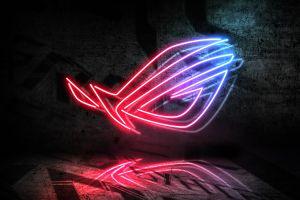 republic of gamers logo asus neon