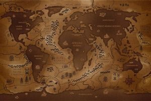 reverse artwork world map