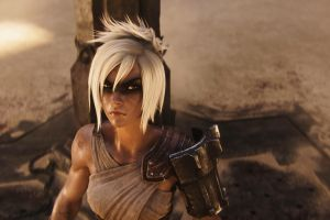 riven pc gaming video game girls league of legends blonde