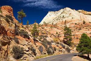 road mountains landscape nature