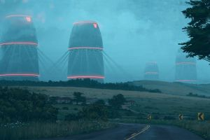 robot simon stålenhag apocalyptic robots digital painting science fiction cyberpunk