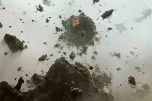 rocks stones destruction explosion shrapnel