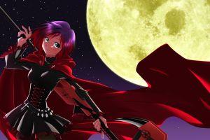 ruby rose (rwby) rwby moon