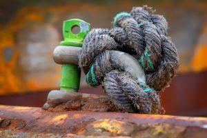 rust blurred ropes metal
