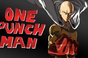 saitama superhero dark background anime artwork one-punch man anime boys