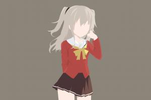 school uniform charlotte (anime) anime minimalism tomori nao anime girls