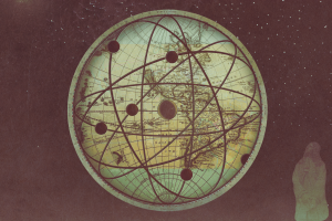 science artwork map world map knowledge sepia