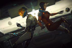 science fiction artwork women