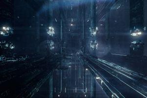 science fiction construction lights lights concept art pixel art