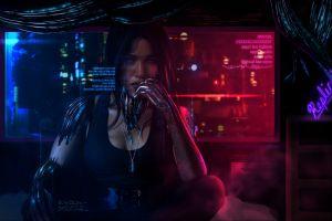 science fiction cyberpunk dark futuristic cyborg
