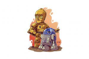 science fiction derek laufman white background r2-d2 star wars droids star wars simple background artwork