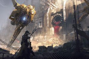 science fiction futuristic apocalyptic armor painting ship illustration joakim ericsson men artwork concept art digital art