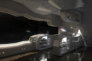 science fiction spaceship space