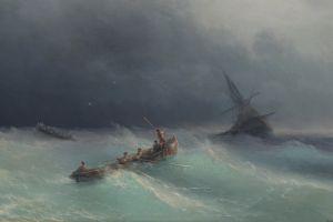sea ship boat artwork