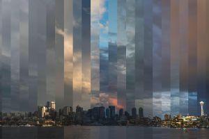 seattle city digital art timelapse skyline cityscape
