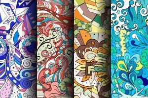 shapes pattern digital art texture