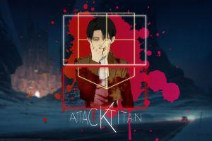 shingeki no kyojin picture-in-picture attack on titans levi ackerman anime boys