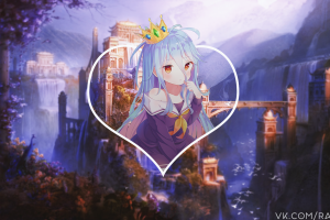shiro (no game no life) anime girls picture-in-picture anime no game no life