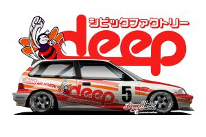 side view race cars render bees japanese cars axesent creations honda civic jdm
