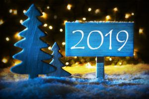sign 2019 (year) christmas numbers new year lights