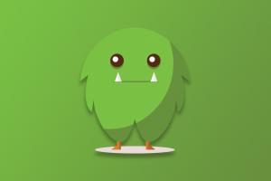 simple background cartoon digital creature green background