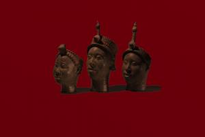 simple background yoruba minimalism red background