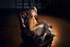 sitting model chair women dark anastasia scheglova
