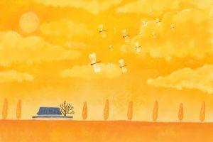 sky illustration field