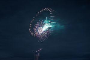 sky sparks night fireworks